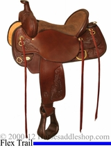 "** SALE **15"" to 17"" Circle Y Carlsbad Flex-Lite Trail Saddle 2376"