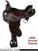 "SOLD 12/3/13 $1150 PRICE REDUCED! 16"" Circle Y Gaited Flex2 Trail Saddle, Wide Tree uscy2688 *Free Shipping*"