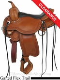 "16"" Circle Y Julie Goodnight Blue Ridge Flex2 Gaited Trail Saddle 1751"