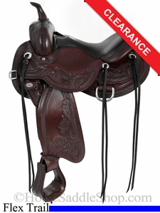 "SOLD 2014/11/04 $1997.50 16"" Circle Y Julie Goodnight Wind River Flex2 Trail Saddle 1750"