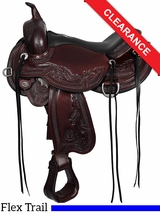 "15"" Circle Y Julie Goodnight Wind River Flex2 Trail Saddle 1750 CLEARANCE"