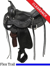 """SOLD 2016/01/19 16"""" Circle Y Julie Goodnight Wind River Flex2 Trail Saddle 1750 CLEARANCE"""