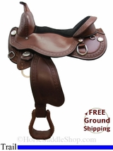 """SOLD 2015/05/21 16"""" Circle Y Just Be Natural 3910 TREELESS Trail Saddle, Wide Tree, Demo Saddle uscy3122 *Free Shipping*"""
