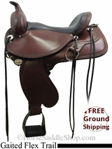 "16"" Circle Y North Carolina 1586 Flex2 Gaited Trail Saddle, Wide Tree, Floor Model uscy3123 *Free Shipping*"