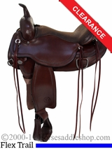 """SOLD 2016/03/26 16"""" Circle Y Omaha Round Skirt Flex2 Saddle 1554 CLEARANCE"""