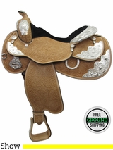 "16"" Circle Y Silver Twilight 2833 Show Saddle, Wide Tree, Discontinued uscy3272 *Free Shipping*"