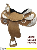"""16"""" Circle Y Silver Twilight 2833 Show Saddle, Wide Tree, Discontinued uscy3272 *Free Shipping*"""