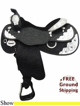 """16"""" Circle Y Silver Twilight 2833 Show Saddle, Wide Tree, Exclusive uscy3276 *Free Shipping*"""