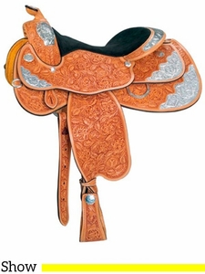 "16"" 17"" Circle Y Stars & Diamonds Show Saddle 2931 w/Free Pad"
