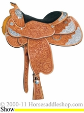 "16"" 17"" Circle Y Stars & Diamonds Show Saddle 2931 *free pad or cash discount*"