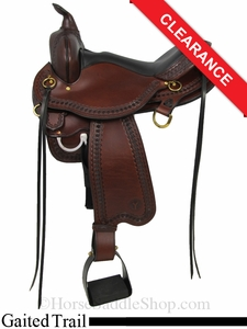 "SOLD 2014/09/25 $1349.10 16"" Circle Y SupeRide Yosemite Gaited Trail Saddle 3875"