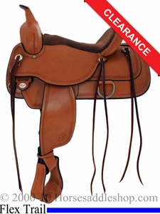 "SOLD 2014/07/12 $1529.10 16"" Circle Y Topeka Flex2 Trail Saddle 1651"