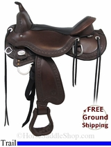 "SOLD 2015/01/10 16"" Circle Y Treeless Trail Saddle, Wide Tree uscy2988 *Free Shipping*"