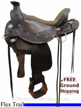 "16"" Circle Y Walnut Grove 1157 Flex2 Trail Saddle, Wide Tree, Exclusive uscy3103 *Free Shipping*"