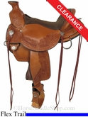"SOLD 2014/07/13 $1755 16"" Circle Y Walnut Grove Flex2 Trail Saddle 1157"