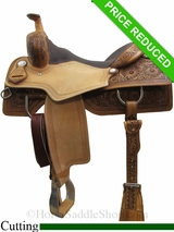 "16"" Circle Y Xtreme Performance Tyler Cowhorse Saddle 1391"