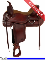 """SOLD 2017/02/23  16"""" Courts Saddlery Wide Trail Saddle 92190B CLEARANCE"""