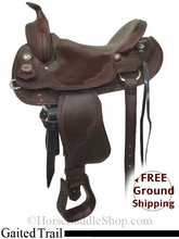 """SOLD 2014/07/27 $1449 PRICE REDUCED! 16"""" Crates Gaited Trail Saddle uscr2785 *Free Shipping*"""