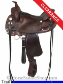"SOLD 12/2/13 $1236.00 16"" Crates Lightweight Trail Saddle 2171"