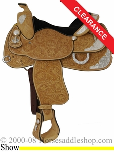"SOLD 2014/07/05 $1956.80 16"" Crates Ultra Lite Supreme Show Saddle 2345"