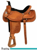 "16"" Dakota Ranch and Calf Roping Saddle 206"