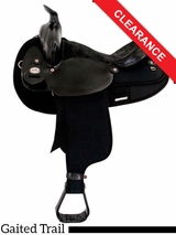 "SOLD 2016/06/21  16"" Fabtron Black Gaited Horse Saddle 7141 CLEARANCE"