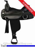 "16"" Fabtron Black Synthetic Saddle 7109"
