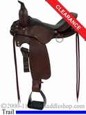 "16"" Fabtron Cross Trail Leather Saddle 7754"