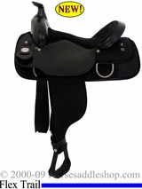 "16"" Fabtron Double Rigged Flex Tree Trail FQHB Saddle 7109-F"