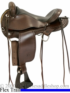 "DISCONTINUED 16"" Circle Y Expedition Flex-Lite Trail Endurance Saddle 1575 *free pad or cash discount*"