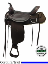 """SOLD 2016/01/27 16"""" High Horse by Circle Y Magnolia Cordura Wide Trail Saddle 6909, Floor Model ushh3320 *Free Shipping*"""