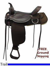 "PRICE REDUCED! 16"" High Horse by Circle Y Magnolia Cordura Wide Trail Saddle 6909, Floor Model ushh3320 *Free Shipping*"