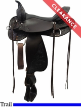 "17"" High Horse by Circle Y Oyster Creek Trail Saddle 6808 CLEARANCE"