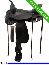 "16"" High Horse by Circle Y Oyster Creek Trail Saddle 6808"