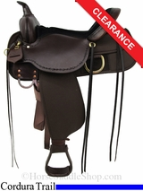 "16"" High Horse Driftwood Cordura Trail Saddle 6921"