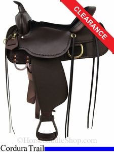 "SOLD 2014/10/08 $629.10 16"" High Horse Driftwood Cordura Trail Saddle 6921"