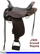 """SOLD 2015/05/21 16"""" High Horse El Dorado 6915 Trail Saddle, Wide Tree, Exclusive ushh3105 *Free Shipping*"""