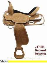 "PRICE REDUCED! 16"" High Horse Gladewater 6310 Show Saddle, Wide Tree, Floor Model ushh3019 *Free Shipping*"