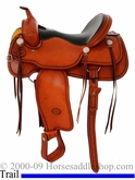 "16"" New Genuine Billy Cook Trail Saddle 1784 FQHB"