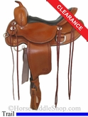 "SOLD 2014/03/02 $1090 16"" Reinsman Round Skirt Trail Saddle 4135"