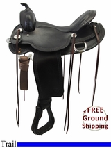 "PRICE REDUCED! 16"" Reinsman Wide Trail Saddle, Floor Model usrs3316 *Free Shipping*"