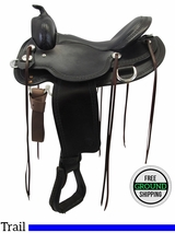 "SOLD 2016/06/27  PRICE REDUCED! 16"" Reinsman Wide Trail Saddle, Floor Model usrs3316 *Free Shipping*"