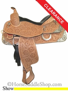 "16"" Silver Mesa Elite Show Saddle me1004"
