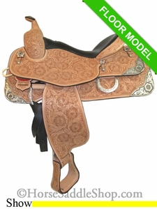 "16"" Silver Mesa Elite Show Saddle me1004 FLOOR MODEL Discounted"