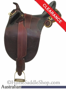 "SOLD 2014/08/07 $395 16"" Stockman Bush Rider Australian Saddle asjt181br"