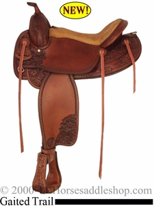 "DISCONTINUED 16"" Tex Tan Jackson Tex Gaited Trail Saddle 08tf-424p6"