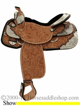 "16"" Tex Tan Premium Show Saddle 08-1585-20u6"