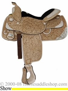 "DISCONTINUED 16"" Tex Tan Show Classic Ultra Lite Saddle 08-1579-21u6"
