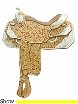 "** SALE ** 16"" Tex Tan Silver Charity Show Saddle 292377UL6"