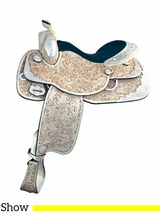 "** SALE ** 16"" Tex Tan Silver Showman Show Saddle 292349UL6"